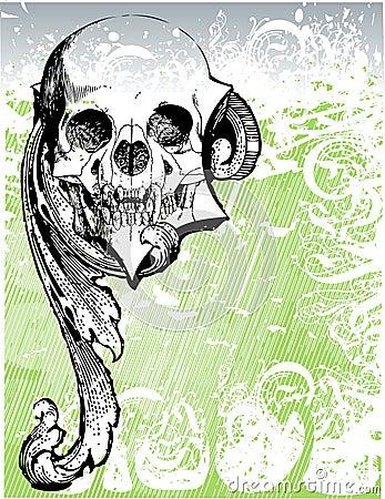Free Demonic Skull Illustration Royalty Free Stock Photo - 3435205