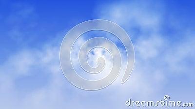 Demonstração aérea celestial das nuvens (laço)
