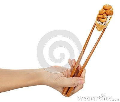 Demonstrador Inari do sushi