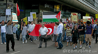Demonstration against Israel s attack Editorial Image
