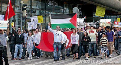 Demonstration against Israel s attack Editorial Photography