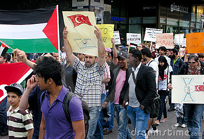 Demonstration against Israel s attack Editorial Stock Photo