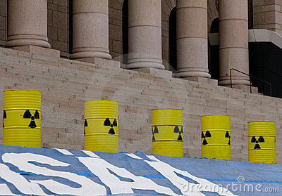 Demonstration against nuclear power stations Editorial Photography