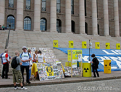 Demonstration against nuclear power stations Editorial Stock Photo