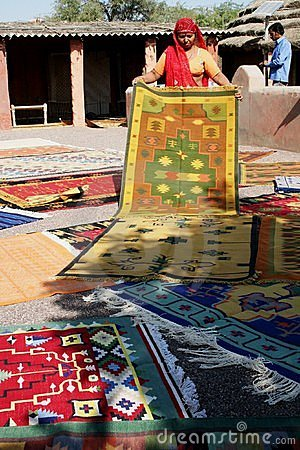 Demonstration of carpets Editorial Stock Photo