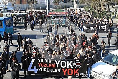 Demonstration on Journalist assasination Editorial Image