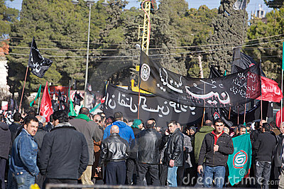 Demonstration in Lebanon Editorial Image
