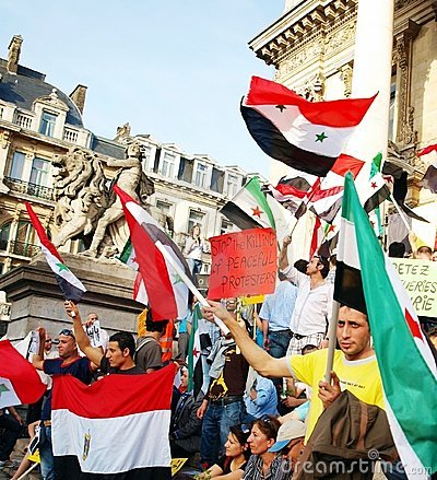 Demonstration to support the Syrian revolution Editorial Stock Image