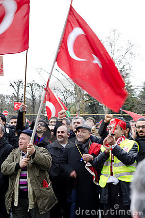 Demonstration of Turkish community in Paris Editorial Image