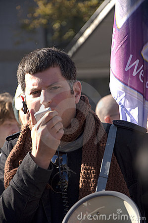 Demonstrator speaking Editorial Image