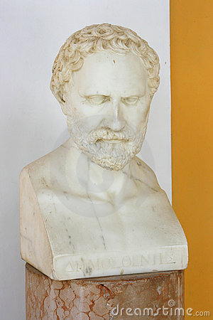 Demosthenes bust Editorial Stock Photo