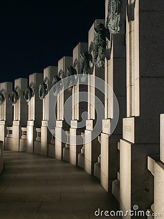 Den atlantiska sidan för minnesmärke ii kriger världen