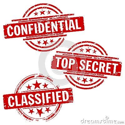 Den confirdential hemligheten stämplar överkanten