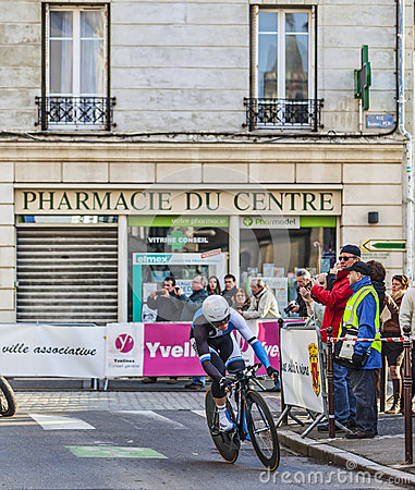 Den cyklistfläckRenshaw- Paris Nice prologen 2013 i Houilles Redaktionell Fotografering för Bildbyråer