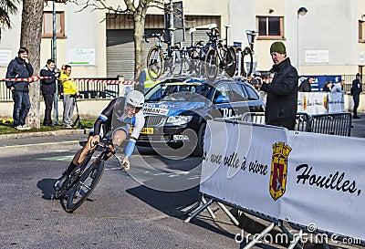 Den cyklistKelderman Wilco- Paris Nice prologen 2013 i Houille Redaktionell Foto