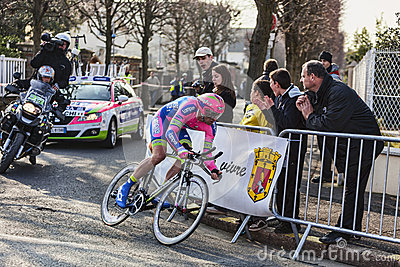 Den cyklistPetacchi Alessandro Paris Nice prologen 2013 i Hou Redaktionell Foto