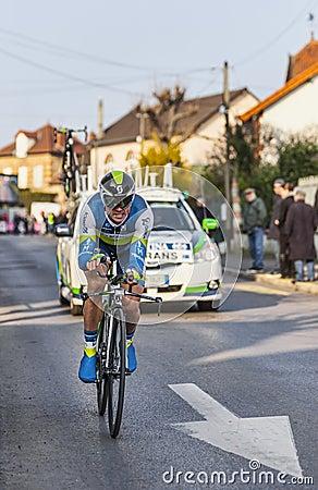 Den cyklistSimon Gerrans- Paris Nice prologen 2013 i Houilles Redaktionell Bild