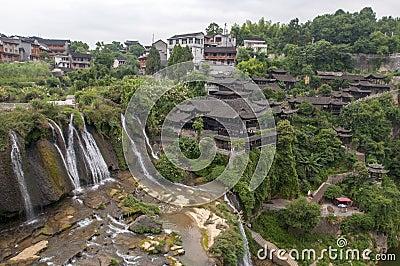 Den forntida staden av FuRong