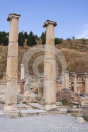 Den forntida stadsephesusen fördärvar kalkonen