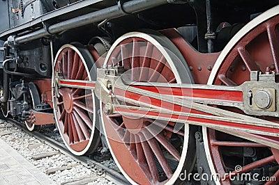 Den gammala lokomotivet rullar