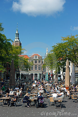 Den Haag Lunch time sun bath Editorial Stock Photo