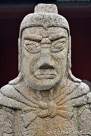 Historisk staty av generalen i forntida Kina