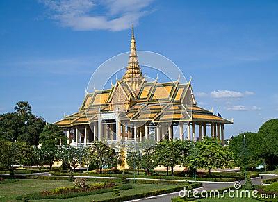 Den kungliga slotten i Phnom Penh