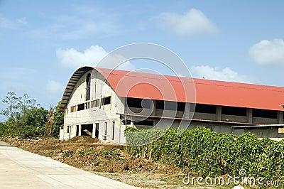 Den inomhus gymnastiksalen för sportrekreationkonditionen centrerar den stora havreön