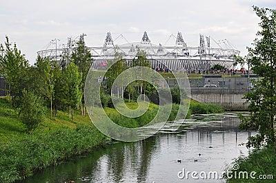 Den olympiska stadionen, olympisk Park, London Redaktionell Foto
