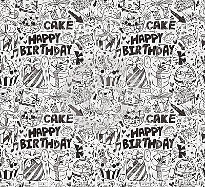 Den Seamless födelsedagen mönstrar