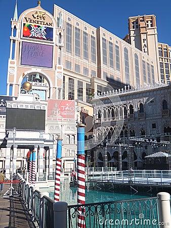 Den Venetian kasinot för semesterorthotell i Las Vegas Redaktionell Arkivfoto