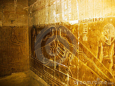 Dendera Light - Detail of the Hathor s Temple
