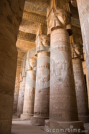 Dendera Temple interior, Ancient Egypt