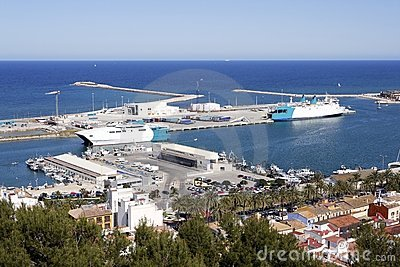 Denia Alicante Spain high view marina