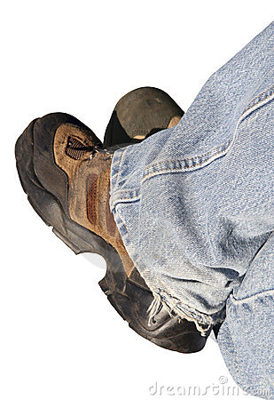 Free Denim And Work Boots Royalty Free Stock Photo - 924995
