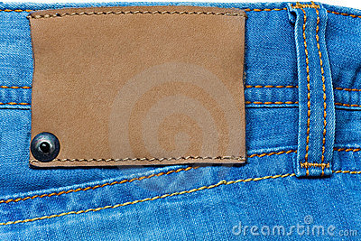 Denim Background With Label Stock Photo - Image: 14292540