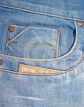 Denim Blue Jeans Coin Pocket