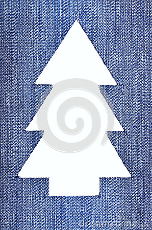 Denim Christmas Tree