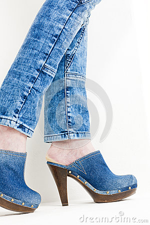 Denim clogs