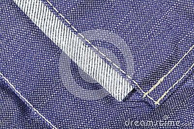 Denim fabric texture with seams