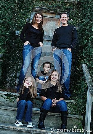 Denim Family Portrait