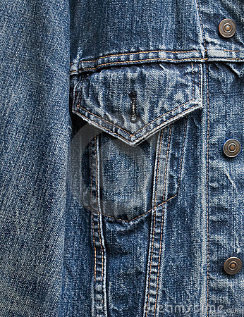 Denim jacket detail
