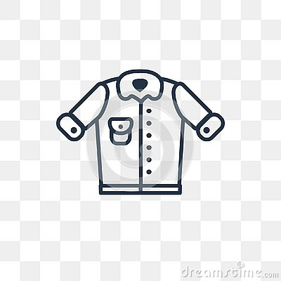 Denim Jacket Vector Icon Isolated On Transparent Background Lin Cartoondealer Com 130110446