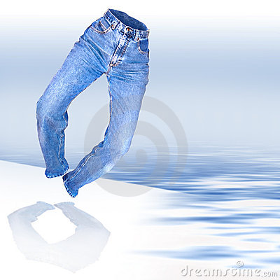Free Denim Jeans Royalty Free Stock Photography - 4467107