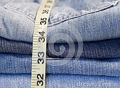 Denim Jeans measuring tape