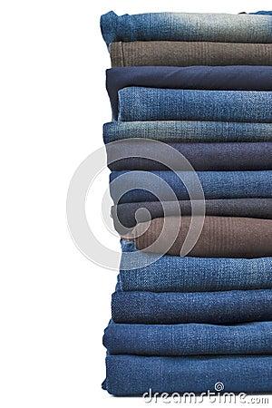 Denim jeans stack