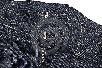 Denim Jeans Unbuttoned