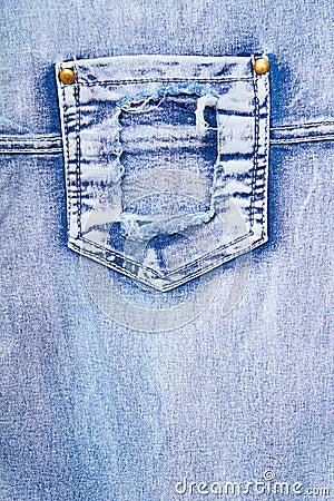 Denim with a pocket