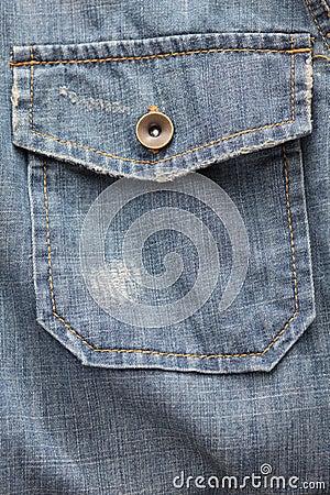 Free Denim Shirt Pocket Stock Images - 45079724