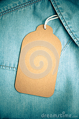 Denim texture with paper jeans tag